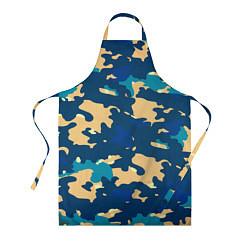 Фартук кулинарный Камуфляж: голубой/желтый цвета 3D — фото 1