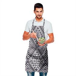 Фартук кулинарный Тартан цвета 3D-принт — фото 2