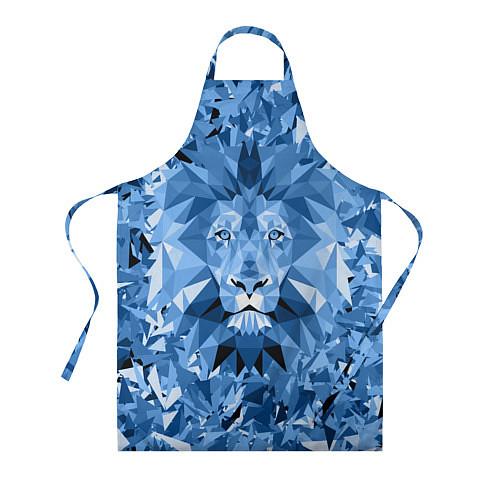 Фартук Сине-бело-голубой лев / 3D – фото 1