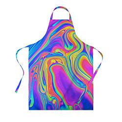 Фартук кулинарный Цветные разводы цвета 3D — фото 1