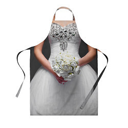Кулинарный фартук с принтом Невеста с букетом, цвет: 3D, артикул: 10093034903988 — фото 1