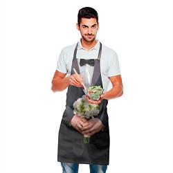 Фартук кулинарный Жених с букетом цвета 3D — фото 2