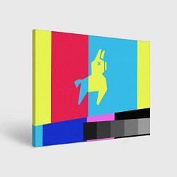 Холст прямоугольный Цветная Лама цвета 3D — фото 1