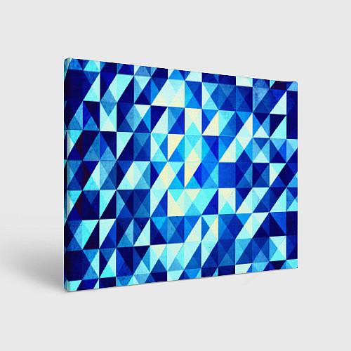 Картина прямоугольная Синяя геометрия / 3D – фото 1