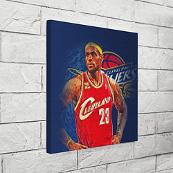 Холст квадратный LeBron 23: Cleveland цвета 3D-принт — фото 2