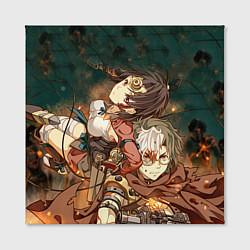 Холст квадратный Воин крепости цвета 3D — фото 2