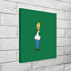 Холст квадратный Гомер в кустах цвета 3D — фото 2