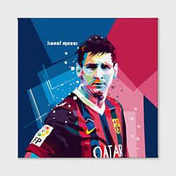 Холст квадратный Lionel Messi цвета 3D — фото 2