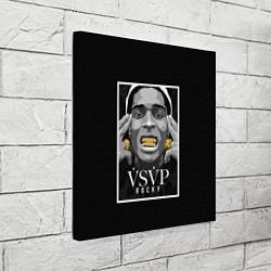 Холст квадратный ASAP Rocky: Gold Edition цвета 3D — фото 2