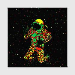 Холст квадратный Космонавт с кальяном цвета 3D-принт — фото 2