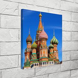 Холст квадратный Храм Василия Блаженного цвета 3D-принт — фото 2