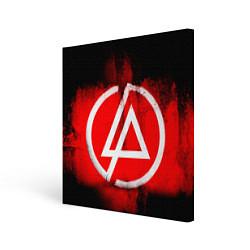 Холст квадратный Linkin Park: Red style цвета 3D — фото 1