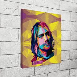 Холст квадратный Kurt Cobain: Abstraction цвета 3D — фото 2