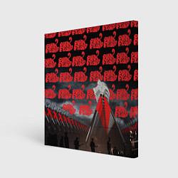 Холст квадратный Pink Floyd Pattern цвета 3D — фото 1
