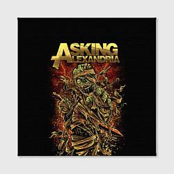 Холст квадратный Asking Alexandria цвета 3D — фото 2