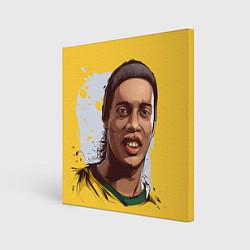 Холст квадратный Ronaldinho Art цвета 3D-принт — фото 1