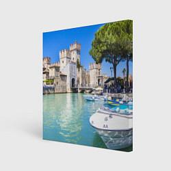 Холст квадратный Италия цвета 3D — фото 1