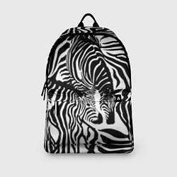 Рюкзак Полосатая зебра цвета 3D-принт — фото 2