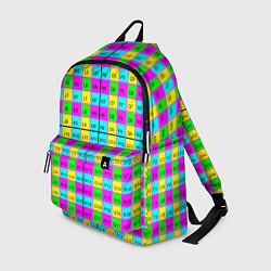 Рюкзак Тестовый яркий цвета 3D-принт — фото 1