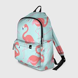 Рюкзак Розовые фламинго цвета 3D-принт — фото 1