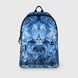 Рюкзак Сине-бело-голубой лев цвета 3D-принт — фото 2