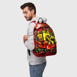 Рюкзак Red Graffiti цвета 3D-принт — фото 2