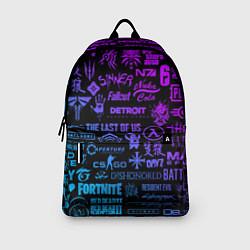 Рюкзак Неоновые лого игр цвета 3D — фото 2