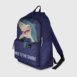Рюкзак Улыбнись акуле цвета 3D-принт — фото 1