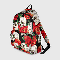 Рюкзак Черепки и розы цвета 3D — фото 1