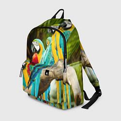 Рюкзак Попугаи на ветке цвета 3D-принт — фото 1