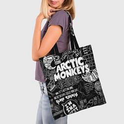 Сумка-шопер Arctic Monkeys: I'm in a Vest цвета 3D-принт — фото 2