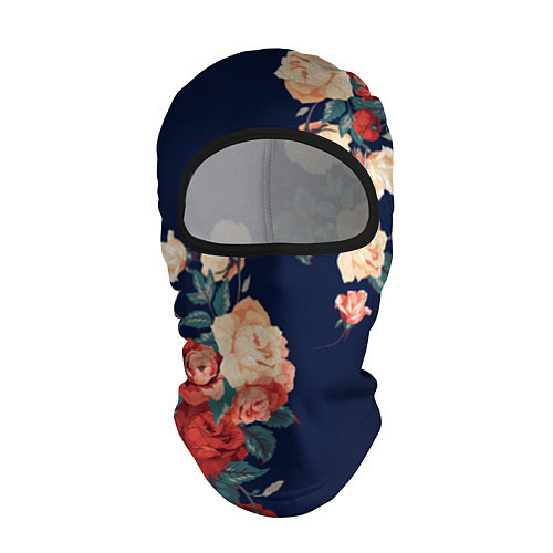 Балаклава Fashion flowers / 3D-Черный – фото 1