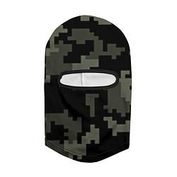 Балаклава Камуфляж пиксельный: черный/серый цвета 3D-черный — фото 2