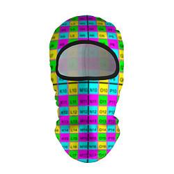 Балаклава Тестовый яркий цвета 3D-черный — фото 1