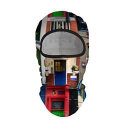 Балаклава London doors цифровой коллаж цвета 3D-черный — фото 1