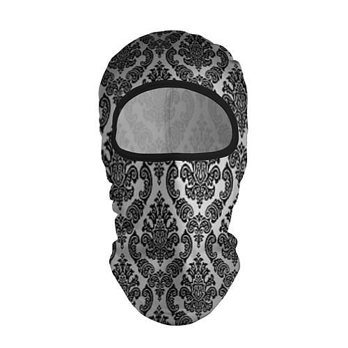 Балаклава Гламурный узор / 3D-Черный – фото 1