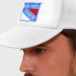 Бейсболка New York Rangers цвета белый — фото 2