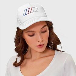 Бейсболка BMW Motor Contur цвета белый — фото 2