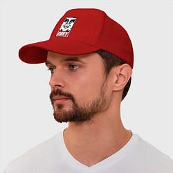 Бейсболка OBEY Face цвета красный — фото 1