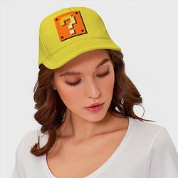 Бейсболка Mario box цвета желтый — фото 2