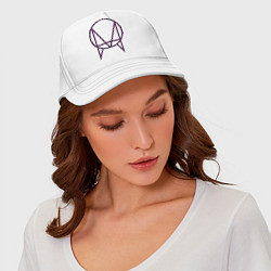Бейсболка Skrillex Symbol цвета белый — фото 2