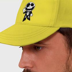 Бейсболка Человечек показывает fuck цвета желтый — фото 2