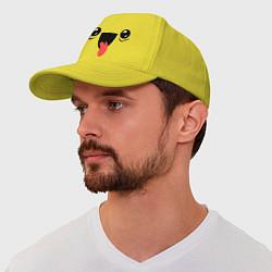 Бейсболка Довольная мордашка цвета желтый — фото 1