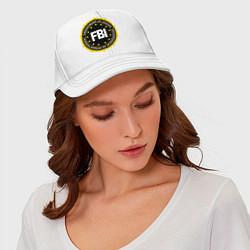 Бейсболка FBI Departament цвета белый — фото 2