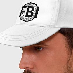 Бейсболка FBI Agency цвета белый — фото 2