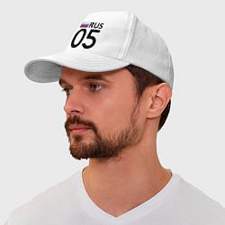Бейсболка RUS 05 цвета белый — фото 1