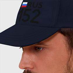 Бейсболка RUS 152 цвета тёмно-синий — фото 2