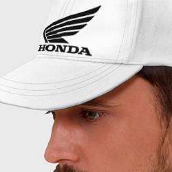 Бейсболка Honda Motor цвета белый — фото 2