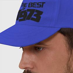 Бейсболка The best of 1973 цвета синий — фото 2