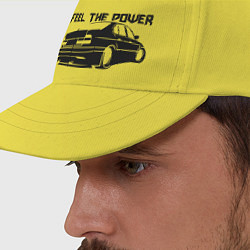 Бейсболка Feel the power цвета желтый — фото 2